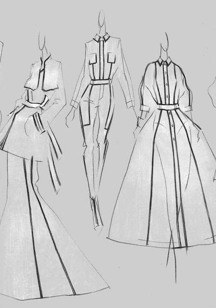 中国国际时装周 2015春夏设计师手稿欣赏