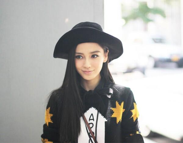 杨颖头像戴帽子