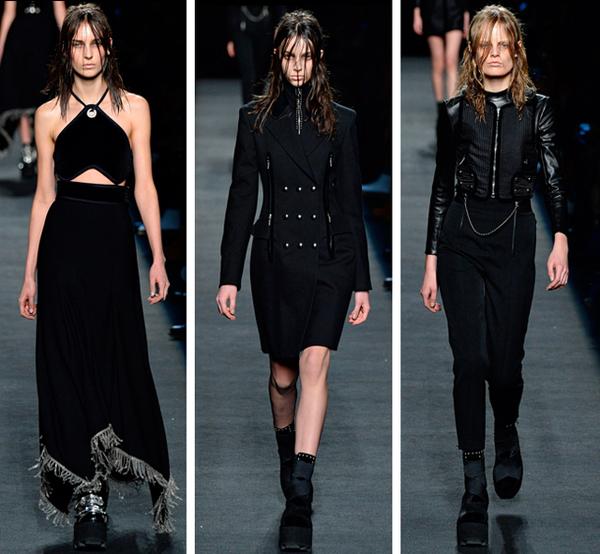 服装设计网 服装设计大赛 t台秀场设计大赛  到利落的肩线,机车皮衣