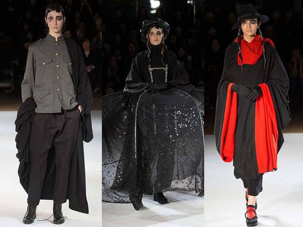 ,川久保玲那就一定不能错过了,独创一格的前卫形象,融合东西方的概念使得她被誉为另类设计师。出生于日本东京的川久保玲于1973年成立自己的品牌COMME des GARCONS,法文意思是像小男孩一样。此次Comme des Garcons2015秋冬系列延续其一贯的怪诞风格,夸张而古怪的设计充满整个系列。金钟罩、大鸟笼、纸灯笼、棉麻做成的各类枕头、打结的袖子、揪扯的布团,加上同样夸张诡异的面纱和发型,设计师想要表达的恐怕不仅仅是另类与前卫,极致的夸张背后隐藏的可能是一颗追求极致解放的心。