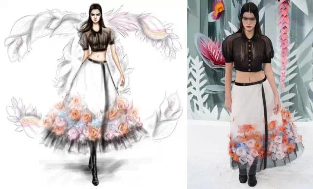 欣赏| 手绘2015春夏高定-时装画/手绘技巧-服装设计