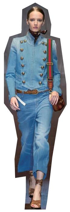服装裁剪|金钮双排扣,改良军装风格!