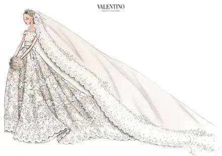 王妃婚纱手绘稿曝光