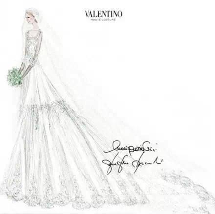 valentino专为各国王妃婚纱手绘稿曝光-服装设计教程
