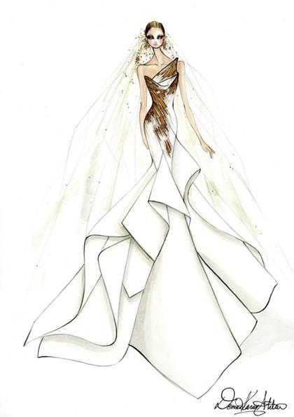 设计婚纱-时装画/手绘