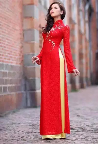 越南式旗袍 · 奥黛-服装服饰文化-服装设计网