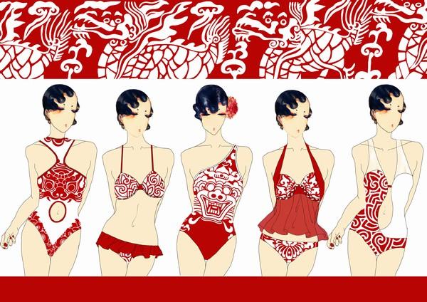 服装设计网 服装设计大赛 葫芦岛·兴城泳装设计大赛     30位拿到