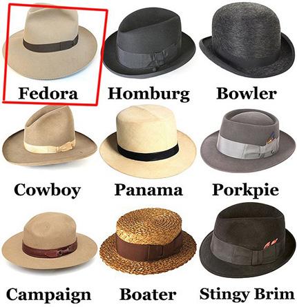 男人们想要点睛之笔 一顶复古软呢帽即可     今天再谈论 fedora 帽子图片