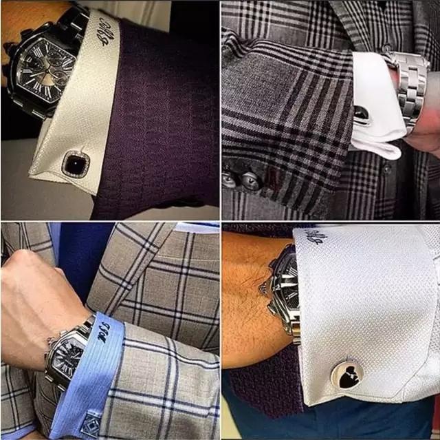 细节决定成败 男士西装袖口的三层搭配法
