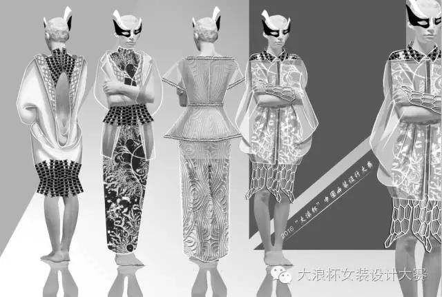 服装设计图片手绘中性