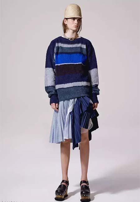 2016秋冬女装流行趋势:条纹毛衣
