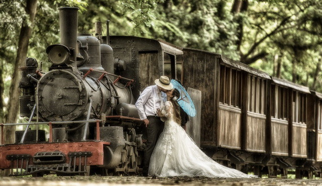 國外婚紗攝影作品欣賞-服裝設計管理-服裝設計網