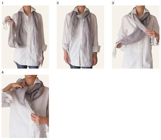 围围巾方法图解