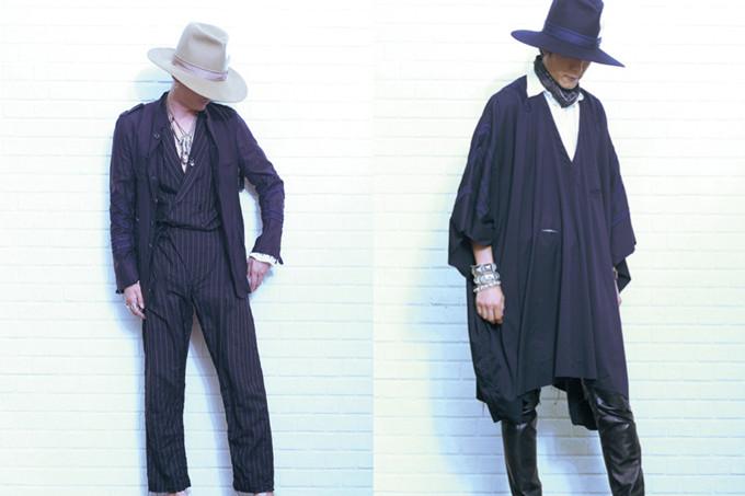 由日本设计大师宫下贵裕主理,且以独特美学和日式简约风格而受到大家喜爱的 TAKAHIROMIYASHITATheSoloIst. 近日为我们带来了全新的 2015 春夏系列新品。与上一季相比,此次宫下贵裕暂时抛弃了朋克摇滚元素,将视野放在了西部牛仔的代表单品上,运用现代的时尚理念和日式街头的内核,打造了包括方巾、马甲、皮靴,毡帽、牛仔裤在内的众多西部味道极重的单品,而回归经典但又不屈居框架的剪裁,依旧展现了宫下贵裕独特的自我风格。