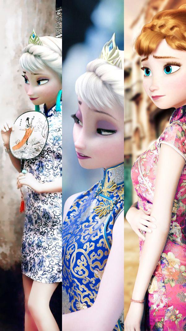 【时尚】当冰雪奇缘穿上中国旗袍