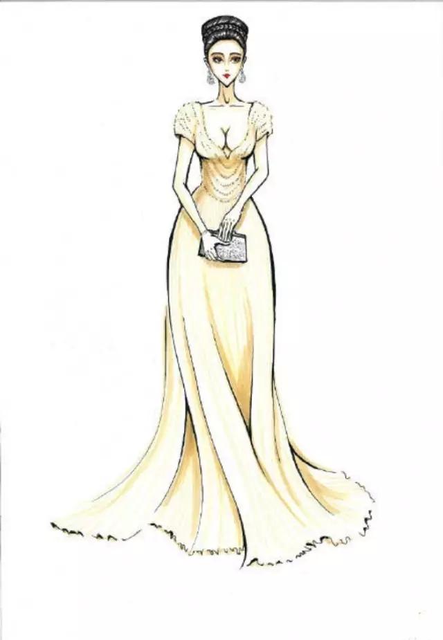 【手绘】如何把绝美礼服画出仙气?