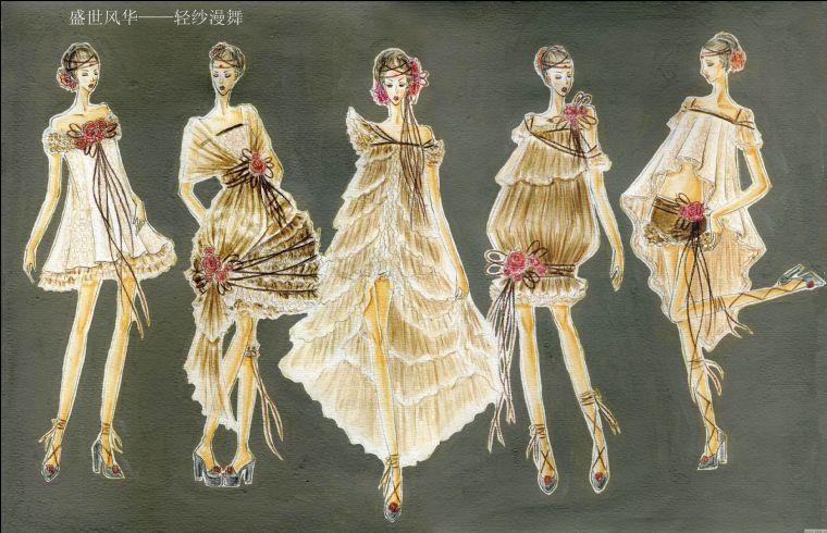 轻纱漫舞-2010首届中国服装设计师网络设计大赛评选