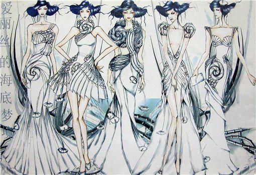 """2007""""名瑞杯""""中国晚礼服设计大奖赛入围效果图欣赏图片"""