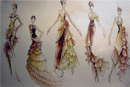 2007名瑞杯中国晚礼服设计大奖赛入围效果图欣