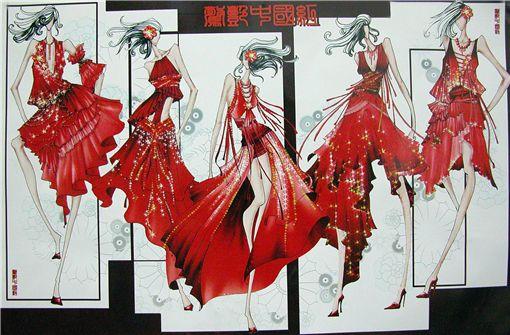 """2007""""名瑞杯""""中国晚礼服设计大奖赛入围效果图欣赏"""