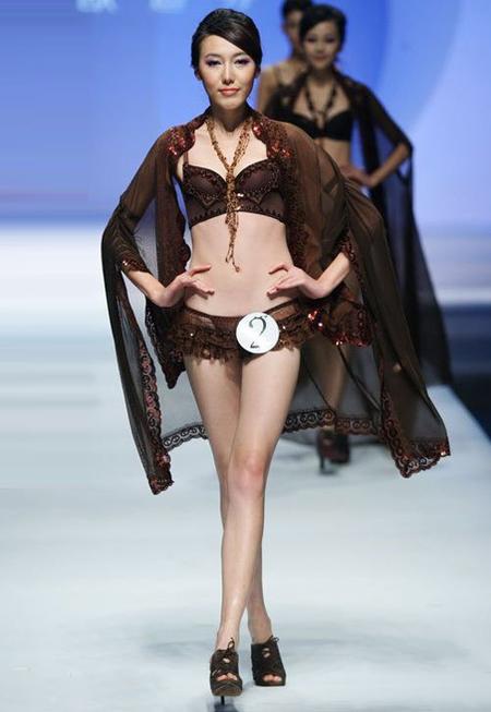 2010欧迪芬杯内衣设计大赛作品内衣秀(半透内衣秀)