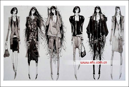 入围效果图-2008服装设计大赛
