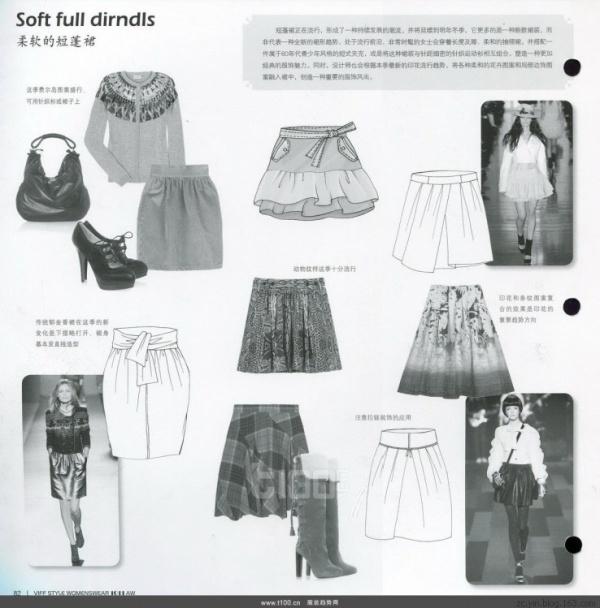 服装流苏款式图  手绘