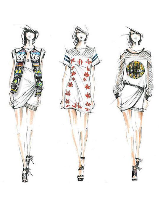 2014纽约时装周手稿带你窥探新一季时装灵感