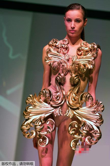 巴黎3d打印时装秀 时尚与科技碰撞