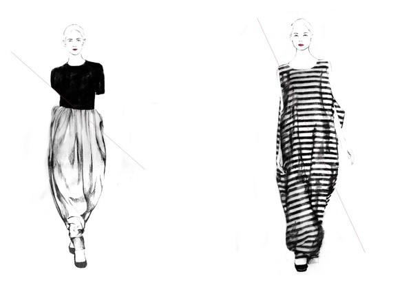 最全欧美服装设计效果图