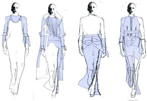 欧美时装画表现手法