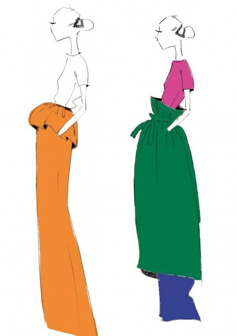 欧美时装画表现手法-服装时尚聚焦-中国服装人才网