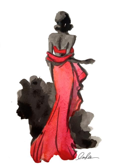 时装画表现手法!