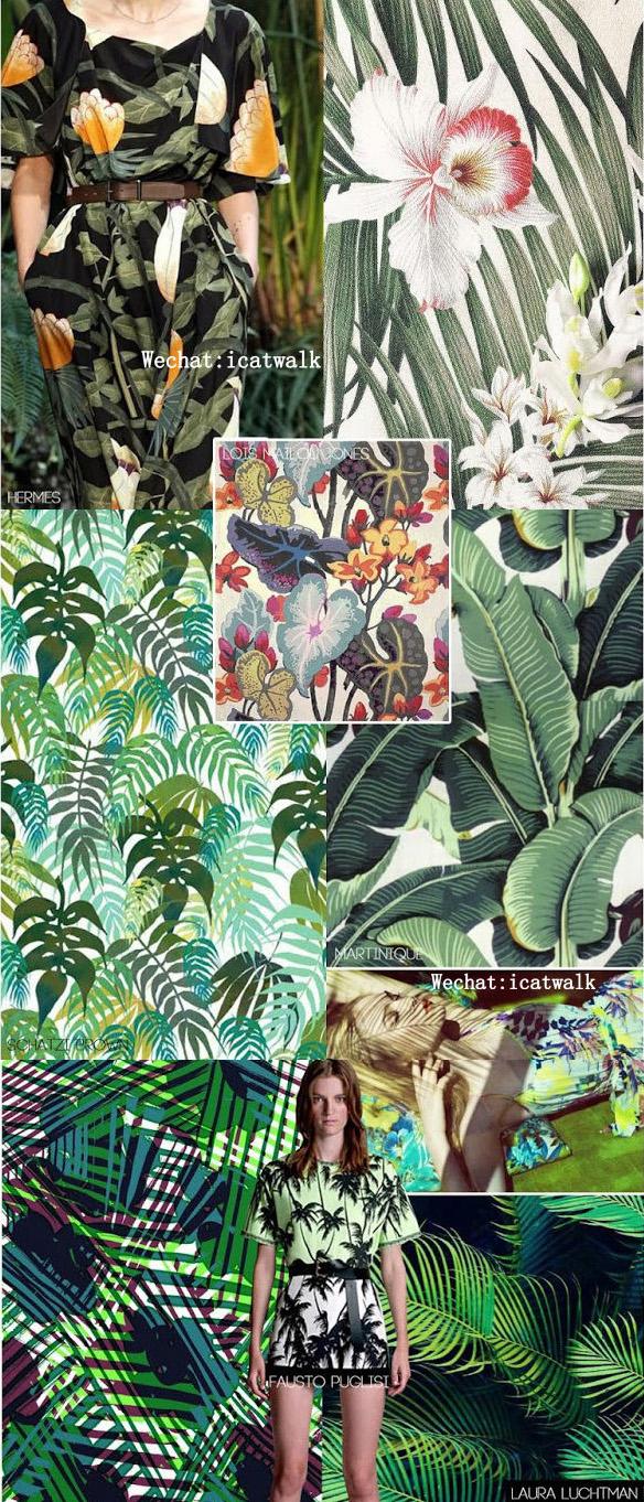2015春夏长裙印花趋势--丛林印花